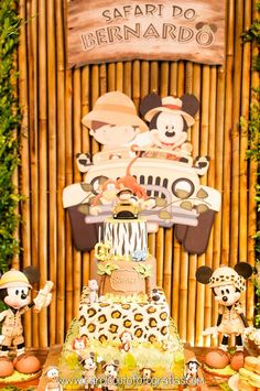 Awesome cake at a Mickey Mouse Safari Birthday Party! See more party planning ideas at CatchMyParty.com!