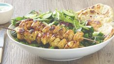 Looking for a healthy lunch at home? Try our delicious warm chicken salad recipe with an Indian twist. Warm Chicken Salad, Chicken Salad Recipes, Healthy Chicken, Steamed Chicken, Skewer Recipes, Lunch Recipes, Dinner Recipes, Healthy Recipes, Healthy Meals