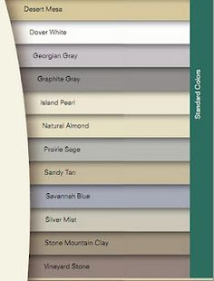 Vinyl Siding Colors The Adobe Cream Or The Walnut House