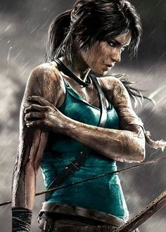 Lara croft by bleu. Tom Raider, Tomb Raider 2013, Tomb Raider Game, Tomb Raider Lara Croft, Tomb Raider Cosplay, Video Game Characters, Fantasy Characters, Female Characters, Foto Fantasy