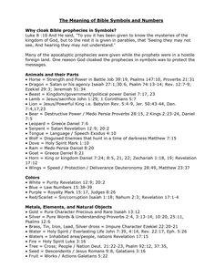 Numbers and Their Meanings   Bible Symbols and Numbers and Their Meaning