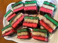 Italian Rainbow Cookies  The first 12 orders from this etsy shop sends out a free order of a dozen chocolate chip cookies!