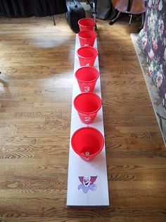 Bean bag toss idea - Re-pinned by #PediaStaff.  Visit http://ht.ly/63sNt for all our pediatric therapy pins