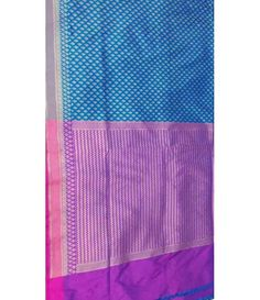 Blue Banarasi Handloom Pure Katan Silk Saree---------------------------------------------------- Along with a classy and elegant look, Banarasi sarees are the perfect example of traditional virtues and values customized to suit every woman. -----------------------------------Sarees from Luxurionworld
