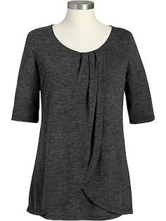 Maternity Pleated-Front Nursing Tops | Old Navy