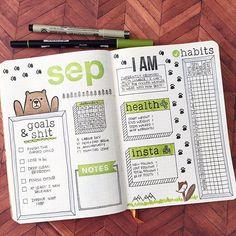 Afbeeldingsresultaat voor september bullet journal
