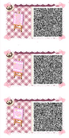 ACNL/ACHHD QR CODE-Pink Wall, Floor, Fabric, Path