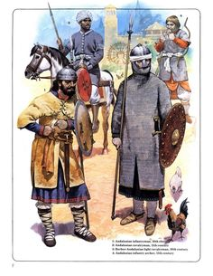 Andalusían Knight and warriors c. 11th century ./tcc/
