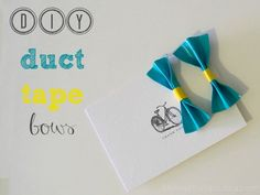 easy duct tape bows tutorial