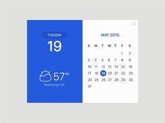 """482 curtidas, 5 comentários - @uiuxgifs no Instagram: """"Weather/Calendar Widget - Creator Profile @hanna1985 dribbble.com\jung_hanna…"""""""