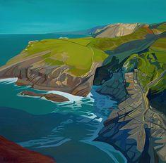 Anna Dillon the Artist - Tintagel Gouache Painting, Artist Painting, Painting & Drawing, Landscape Drawings, Abstract Landscape, Landscapes, British Artists, Environment Design, Travel Posters