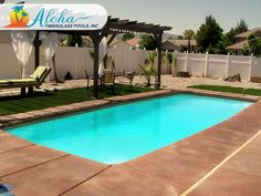 """Aloha II 1a: All of our Modern models are aesthetically pleasing designs with clean, sleek lines.  The Aloha II is a modern shaped fiberglass pool that is 12'x28' and goes to 3'6"""" in depth.  For more information about Aloha Fiberglass Pools or to find a local pool builder in your area that can assist you, visit www.AlohaFiberglassPools.com or call (800) 786-2318."""