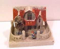 Vintage Christmas village putz house