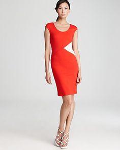 Armani Collezioni Color Block Dress - Cap Sleeve | Bloomingdale's