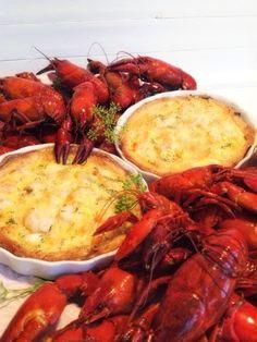 Räkpaj perfekt tillbehör till kräftskivan - Victorias provkök Shrimp, Seafood, Fish, Meat, Recipes, Doodle, Pizza, Golf, Drink