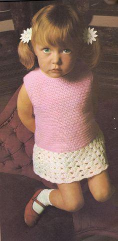 *Free Crochet Pattern:  Vintage Dropwaist Dress