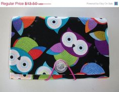 SALE -- Coupon Organizer / holder /  keeper  - Foxy Owls