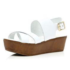White chunky strap flatform sandals £35.00