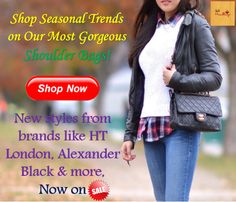 Shop seasonal trends on our most gorgeous Shoulder Bags!  New styles from brands like HT London, Alexander Black & more, now on SALE!