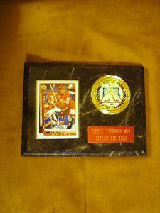 Steve Yzerman card/emblem plaque. $9.99