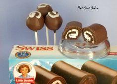 Pint Sized Baker: Little Debbie Swiss Rolls Cake Pops