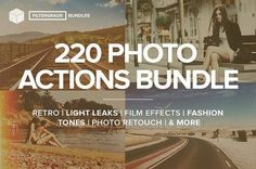 FilterGrade - 220 Actions Bundle by FilterGrade on @creativemarket Best professional lightroom presets packs for more modern and trendy style in your photography. Perfect for portrait, wedding, landscape, urban, travel, creative, blogging.