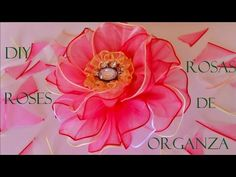 DIY rosas con capullos en flor en cintas - roses with blooming flowers in ribbons - YouTube