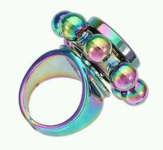 Fidget Ring Multicolor Hand Spinner EDC Toy Finger Gyro