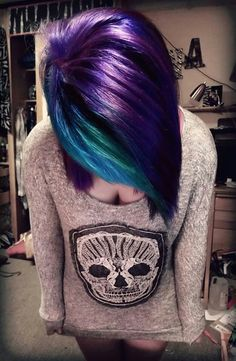 Love her multi coloured hair! (And her jersey!)
