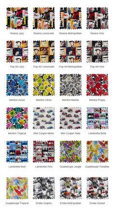 The Pop Art Roman Blind Collection by English Blinds