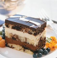 TOO TALLR TUXEDO TRUFFLE CAKE Extravagant Presentation Features Creamy Dark Chocolate And White