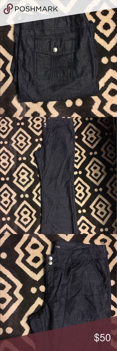 """Michael Kors """"Denim Look"""" Dress Pants Beautiful Michale Kors dark denim colored dress pants. Perfect for work. In EUC. No flaws except for a scratch on the button. Michael Kors Pants Trousers"""