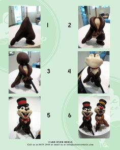 Chip and Dale Figurine Tutorial - by Nicholas Ang @ CakesDecor.com - cake…