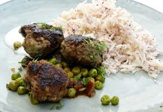 Braised Lamb Meatballs, Sumac Rice