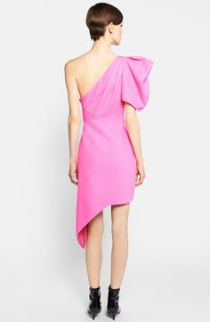 Saint Laurent Puffed One-Shoulder Dress | Nordstrom