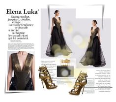 """""""Elena Luka Gown"""" by krischigo ❤ liked on Polyvore featuring Alexander McQueen, Giuseppe Zanotti, women's clothing, women, female, woman, misses, juniors, gown and elenaluka"""