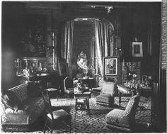 """Living room, Mrs. George Stephen's house, Montreal, QC, 1884"" Victorian Rooms, Victorian Life, Victorian Interiors, Victorian Decor, Vintage Interiors, Victorian Houses, House Interiors, Victoria Reign, Montreal Qc"