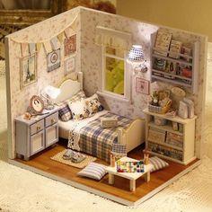 Doll House Furniture Diy Miniature Wooden Miniaturas Dollhouse Toys for Children Birthday Gifts Handmade Crafts House Toys Dollhouse Toys, Wooden Dollhouse, Wooden Dolls, Dollhouse Miniatures, Victorian Dollhouse, Victorian Gothic, Miniature Rooms, Miniature Houses, Miniature Furniture