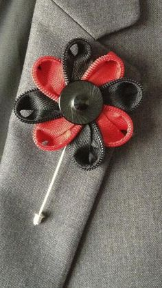 L120- Zipper Flower - Lapel Pin - READY TO SHIP  by Ibellaboutique for $10.00