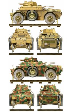 Autoblinda 40, 41 and 43 (abbreviated AB 40, 41 and 43) Fitted for rail use: They were advanced Italian armored cars produced by Fiat-Ansaldo and which saw service mainly during WWII. Most autoblinda were armed with a 20 mm Breda 35 autocannon (or a 47mm with AT&HE rounds) a coaxial 8 mm machine gun in a turret similar to the one fitted to the Fiat L6/40, and another hull mounted rear-facing 8 mm machine gun.