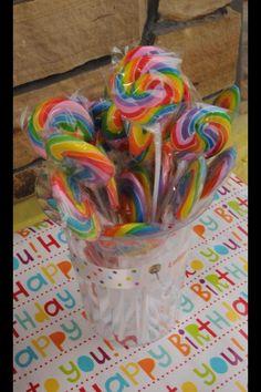 Swirled lollipops.