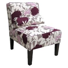Grey and Purple chair