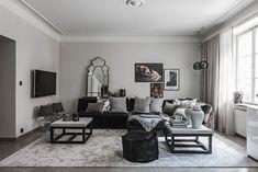 Элегантная черно-белая квартира в Швеции (96 кв. м) - Дизайн интерьеров | Идеи вашего дома | Lodgers