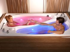Romantic  How to Share Your Bathtub Without Actually Sharing It: Couple Bath Yin Yang