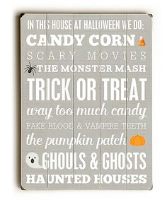 Look at this #zulilyfind! 'Halloween' Wall Sign by ArteHouse #zulilyfinds
