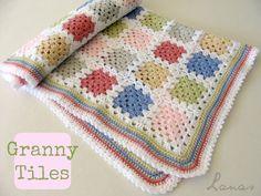 granny tile blanket- love the colors!