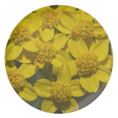 Yellow Wildflowers Party Plate from Florals by Fred #zazzle #gift