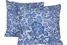 Chinese  Floral Pillows