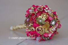 Brooch bouquet pink brooch bouquet pink and by MadeForMeBridal, $185.95. Buy this sample, or have one custom made with your wedding colors!