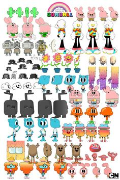 The Amazing World of Gumball Cartoon Network - Virginie Kypriotis - Character design, freelance designer